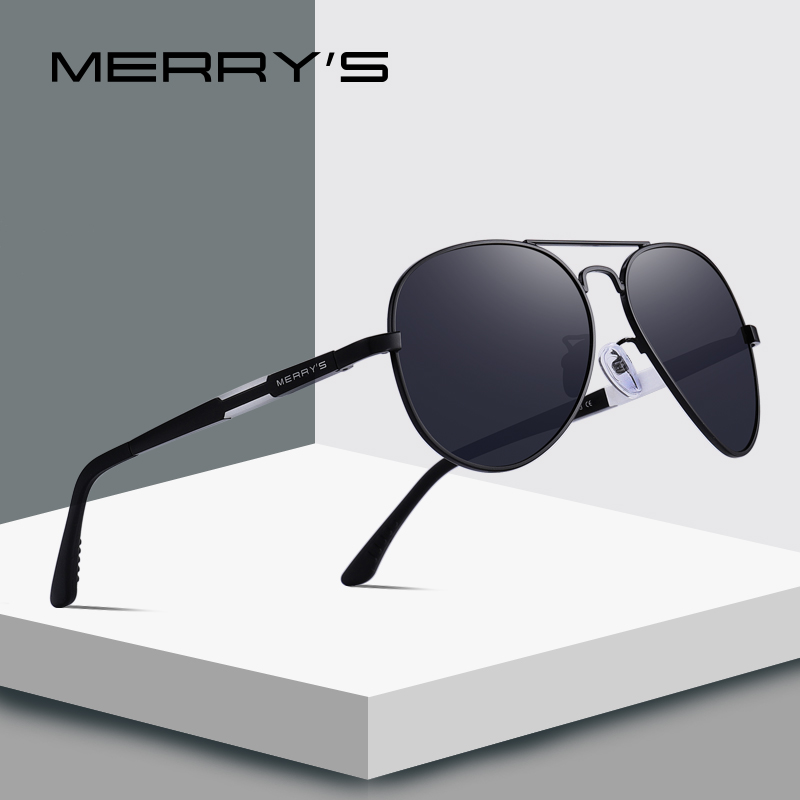 MERRYS DESIGN Men Classic HD Polarized Pilot Sunglasses For Driving  Aviation Aluminum Mens Eyewear UV400 Protection S8285