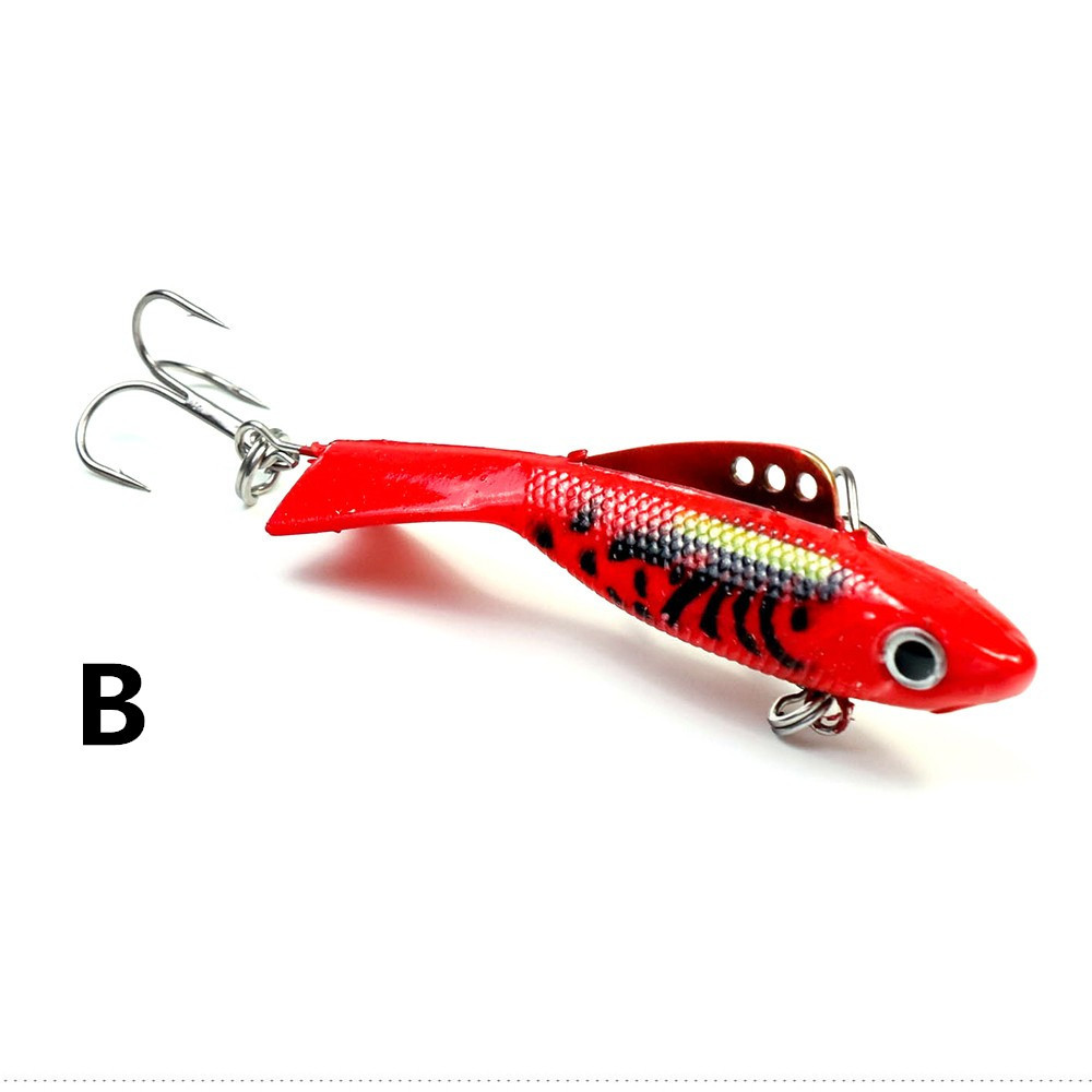 2018 1Pcs High Quality Ice Fishing Baits Wobblers Fishing Balancers Strong Winter Fishing Tackle Crankbaits Jig Head 5.5cm 12g