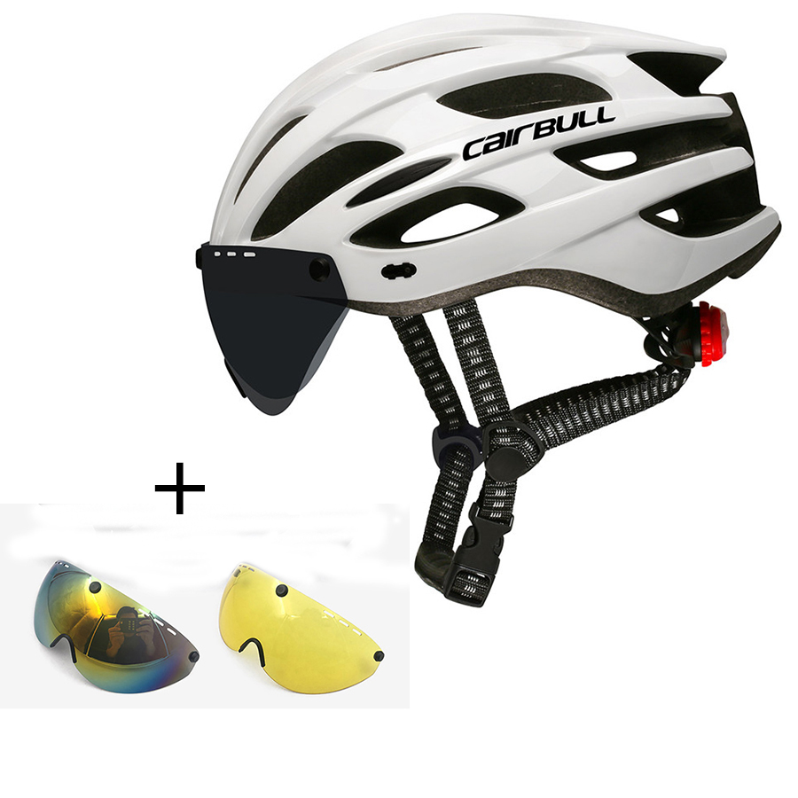 Cairbull Cycling-Helmet Visor-Goggles Bike-Taillight Mountain-Road Intergrally-Molded
