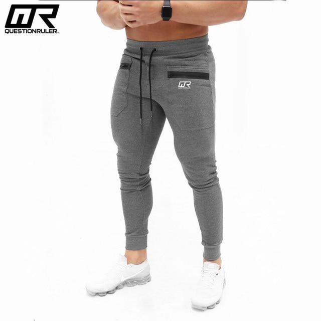 4d98bd4ac 2018 New Autumn Jogger Pants Men Cotton Patchwork Sweatpants Fitted Sweat  Pants Active Casual Trousers Track