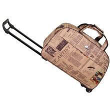August Jahrgang Portable Reisetasche Handgepäck Männer Frauen Falten Rollgepäck Koffer Mit Rädern frauen Handtasche