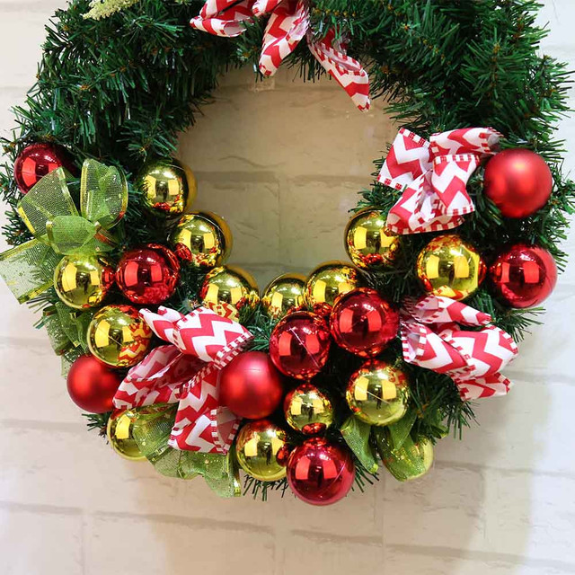 Muqgew Creative 40cm Christmas Wreath Garland Window Door