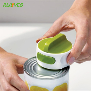 1 Pc Round Can Opener Stainless Steel Easy Manual Rotation Canned Fruit Luncheon Meat Non-slip Openers Kitchen Tools