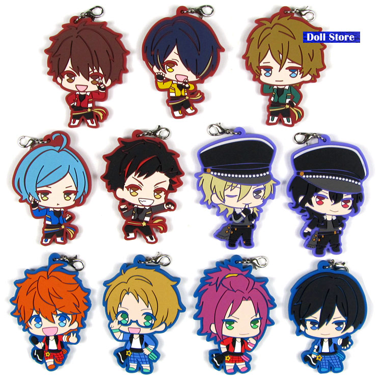 Ensemble Stars New Original Japanese Anime Figurerubber Silicone Sweet Smell Mobile Phone Charms Keychain Strap D179