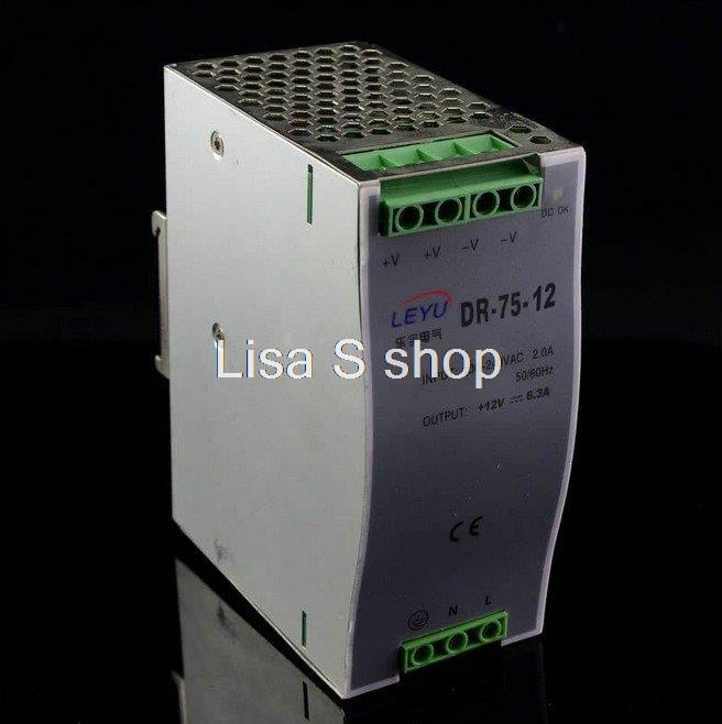 New Siliver Switching Power Supply 75W Din Rail Mounted 12VDC 3.5A Output Power Supply 2014 high performance switching power supply 75w single output din rail type power supply