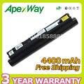 Apexway negro 6 batería de la célula para lenovo ideapad s10-2 55y9382 55y9383 57y6274 57y6273 57y6275 57y6276 l09c3b11 l09s3b11 l09s6y11