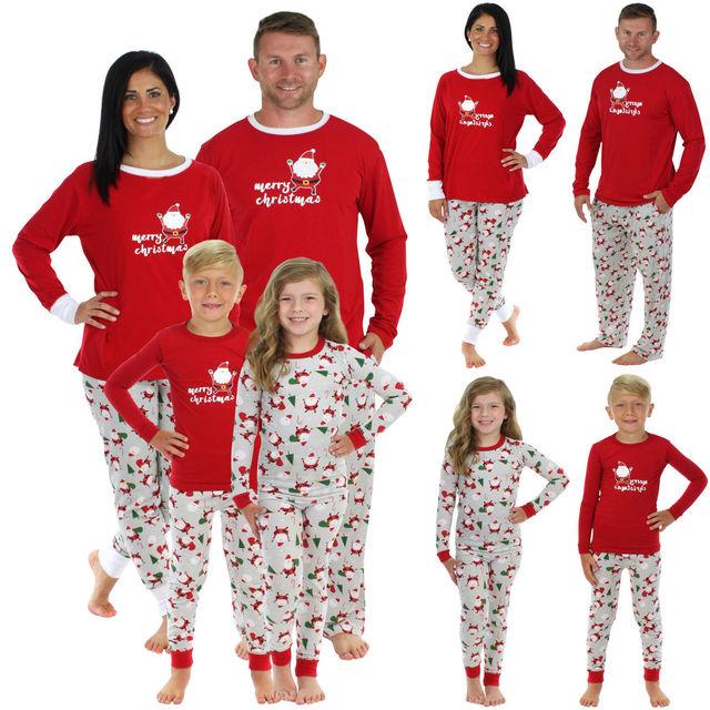 PUDCOCO Newest 2018 Hot Christmas Santa Claus Family Matching Pajamas Set  Sleepwear Nightwear Casual Pyjamas T-Shirt Pants eb6dd7b4f