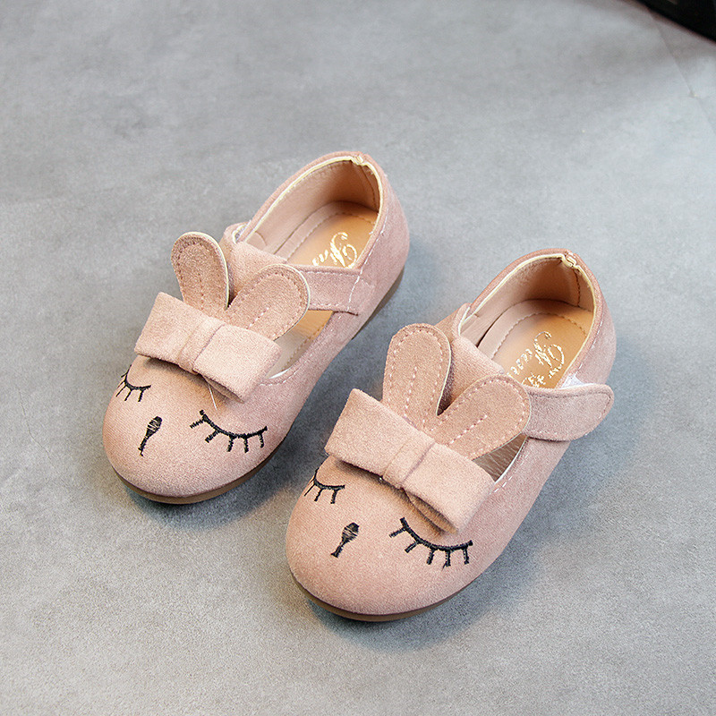 2018 spring autumn girls shoes lovely cartoon rabbit children princess shoes soft baby Casual single shoes for0-4 years old girl