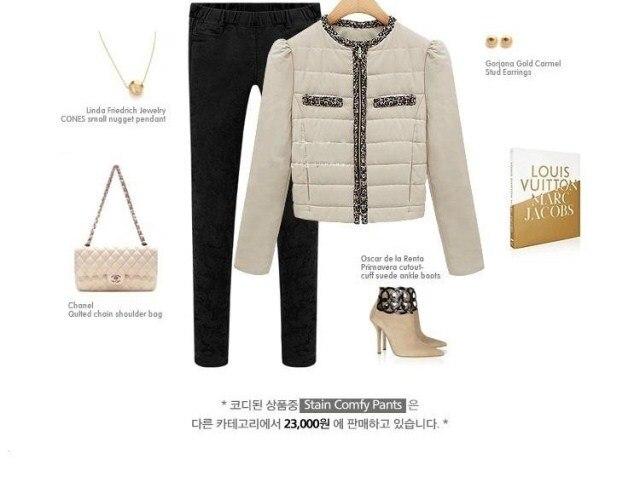 Para mujer chaquetas y abrigos acolchado costura delgado ...