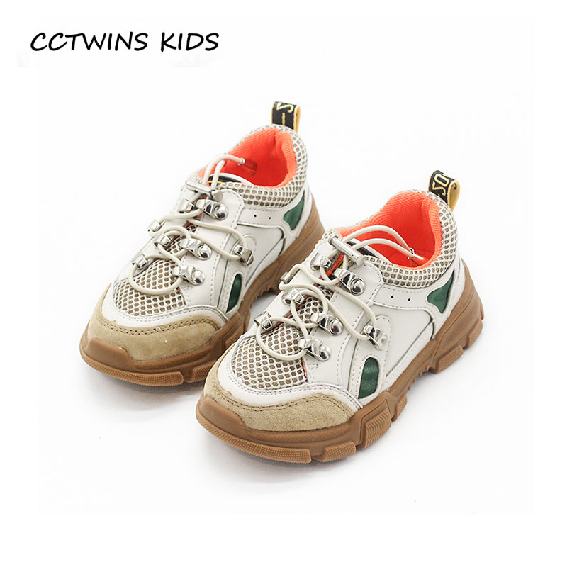 CCTWINS KIDS 2018 Autumn Baby Boy Fashion Casual Trainer Children Black Sport Sneaker Girl Brand Mesh Shoe FS2460