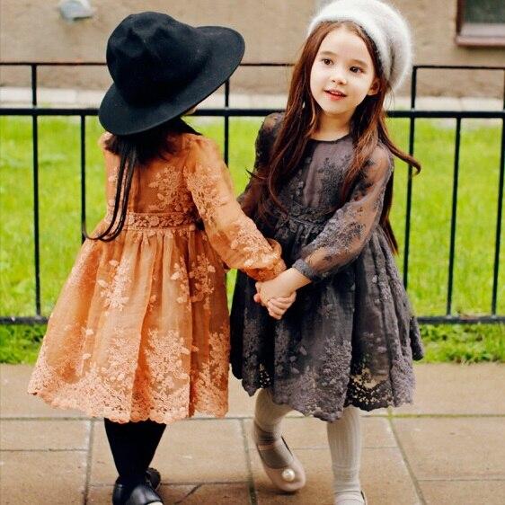 Платья для детей осень