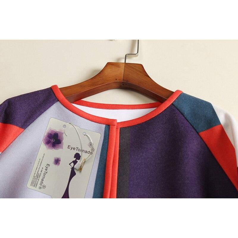 여자 패션 컬러 블록 인쇄 양모 코트 겨울 긴 캐주얼 느슨한 작업 O 넥 블랜드 모직 코트 하이 엔드-에서울 & 블렌드부터 여성 의류 의  그룹 2
