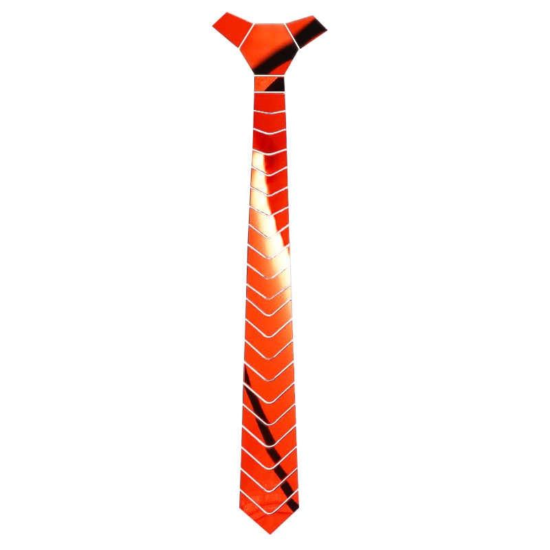 Handmade lustro akrylowe Bling czerwone krawaty mężczyźni moda Skinny jedwabne krawaty Satin Ruby kamień krawaty kobiety biżuteria