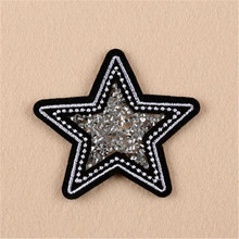 Fashion badge Pentagram patches for clothing, jacket, autumn dress, hoodies, polo, socks, jeans woman, faldas, vestidos, hat
