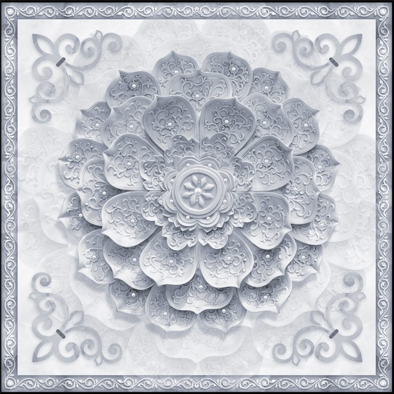 Us 8 85 41 Off Beibehang Wallpaper Murals Any Size Photo Aesthetic European Marble Texture Three Dimensional Lotus Simple Ceiling Wallpaper In