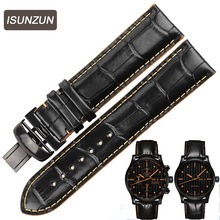 ISUNZUN Watch Straps For Mido M005430A M005 Genuine leather Band Nato Leather Strap Watches AccessoriesWatchbands