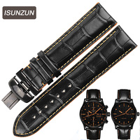 ISUNZUN Watch Straps For Mido M005430A M005 Genuine leather Watch Band Nato Leather Strap Watches AccessoriesWatchbands