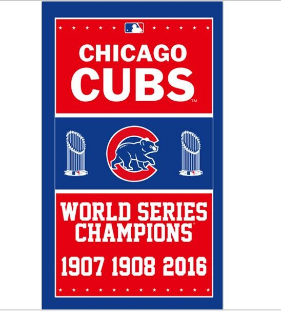 3ftx5ft 2016 world series champions chicago cubs flag with