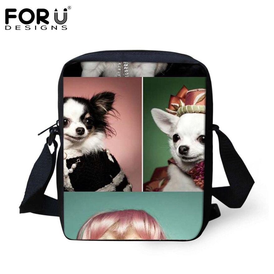 FORUDESIGNS/женская маленькая сумка через плечо с объемным рисунком собаки чихуахуа, модные женские сумки-мессенджеры, сумки через плечо - Цвет: H293E