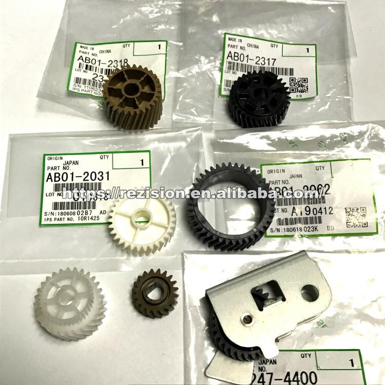 7pcs Original Gear AB01 2062 Drive Gear AB01 2318 AB01 2317 for Ricoh Aficio 2075 MP7500