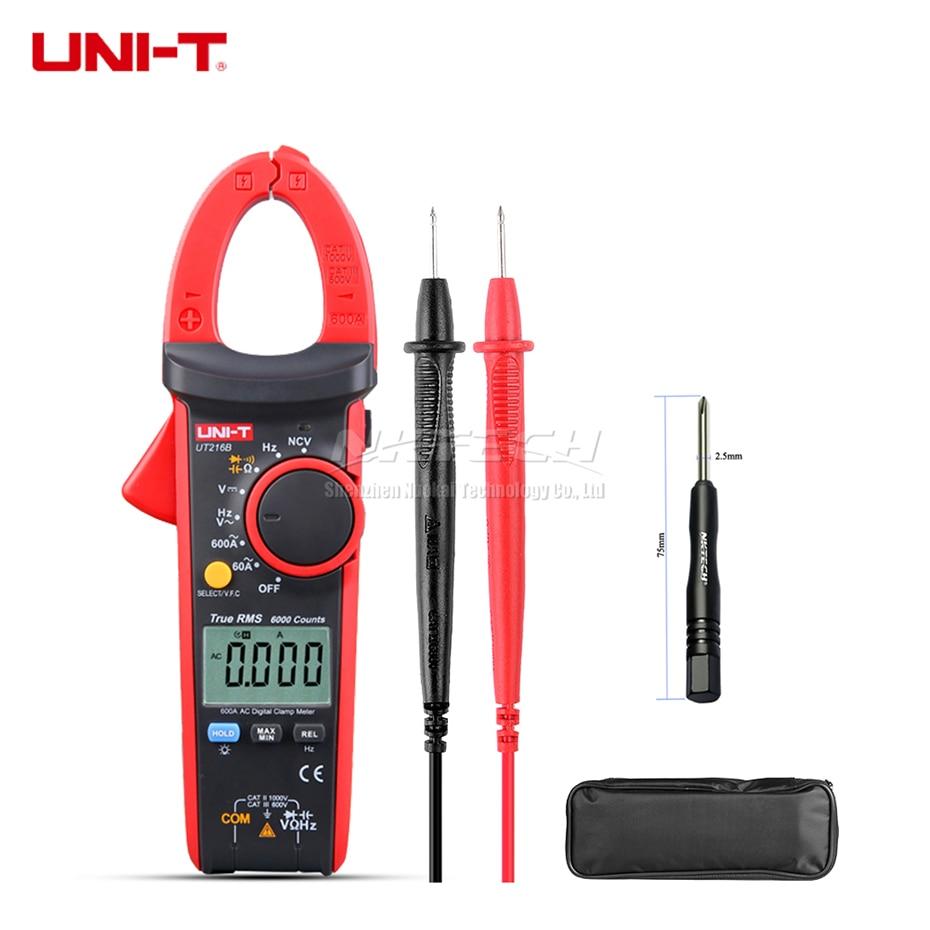 цена на UNI-T Digital Clamp Meter UT216B UT216C UT216A True RMS AC DC Voltage DCA Resistance Capacitance Frequency NCV VFC Auto Range