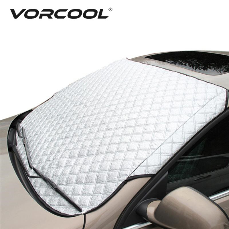 Vorcool Car Windshield Sunshade Cover Universal Car Rain Ice Snow Protector Anti Sun UV Heat Front Window Thick Car SUV Cover