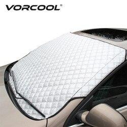 Vorcool רכב שמשה קדמית כיסוי אוניברסלי רכב שמשה קדמית גשם קרח שלג כיסוי צל שמש שמשייה הגנה אוטומטי רכב SUV כיסוי