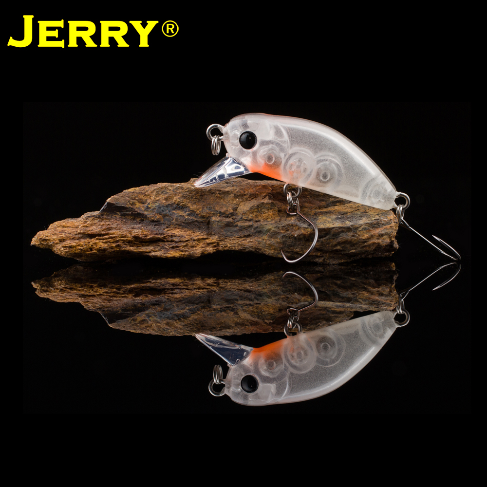 Jerry wobbler fishing lure hard bait 35mm 2.6g single hook perch slow sinking trout lures pesca bammax fishing lure 1 box metal iron hard bait sequins shore jigging spoon lures fishing connector pin fishing accessories pesca