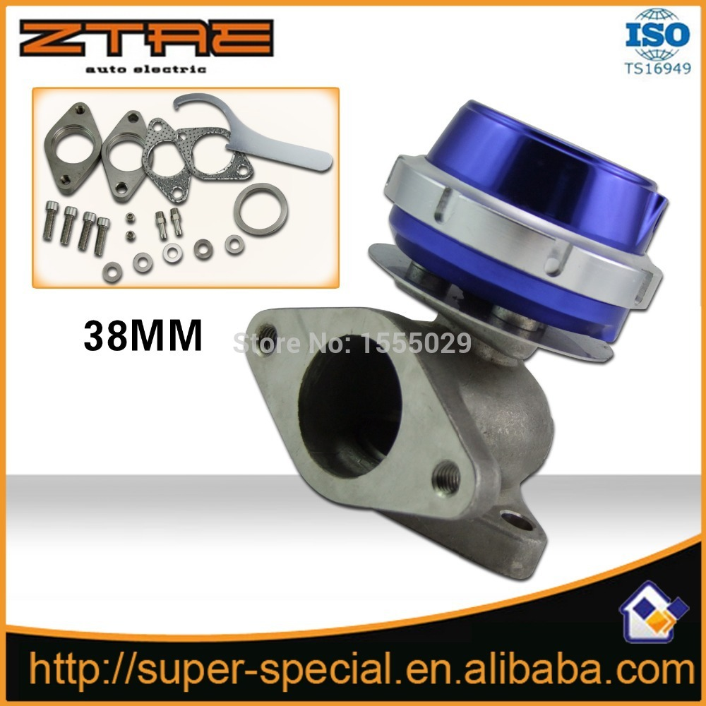 Universal Blue turbo waste gate Suitable New 38MM External Wastegate Turbo Wastegate For All Turbocharged VehiclesUniversal Blue turbo waste gate Suitable New 38MM External Wastegate Turbo Wastegate For All Turbocharged Vehicles