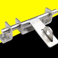 BARREL BOLT Stainless Steel Toilet Cupboard Sliding Shoot Door Latch Lock