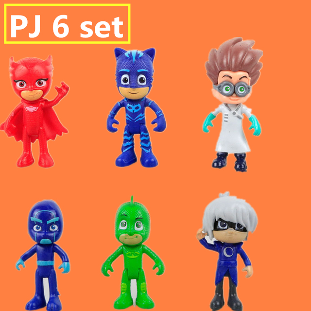 Pjmasks Figure 6pcs/set 8 9cm Pj Masks Characters Catboy Owlette Gekko  Cloak Action