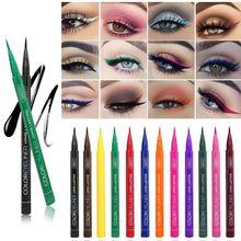 Eyeliner Pencil Yellow Blue Color Hot Waterproof Long Lasting Automatic Liquid Eyeliner Pen de maquillaje para sombra de ojos