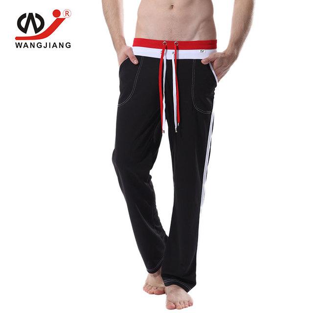 Wj homens calças dos homens corredores sweatpants track pants pantalones hombre poliéster homens de carga calça casual sexy homem rap