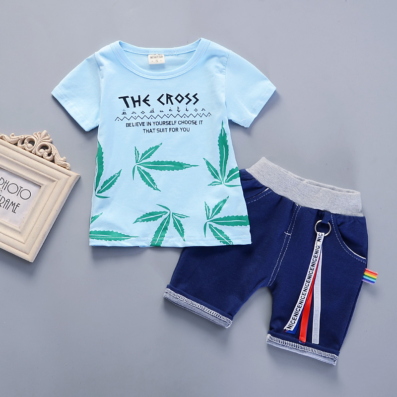 9b054ee4f BibiCola 2018 Baby Boy Clothing sets Kids Boys Clothes Summer Beach ...
