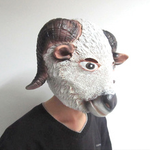 Free shipping Halloween Party Show Props Bar Masquerade Mask Animal Sheep head Mask Headgear Masks for cosplay in stock