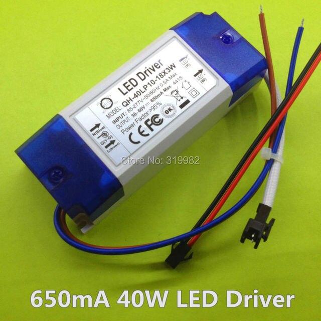 3 stuks isolatie 20w 30w 85 277v 40w led driver 10  18x3w 650ma 700ma dc30 60v hoge pfc voeding transformator voor led lamp