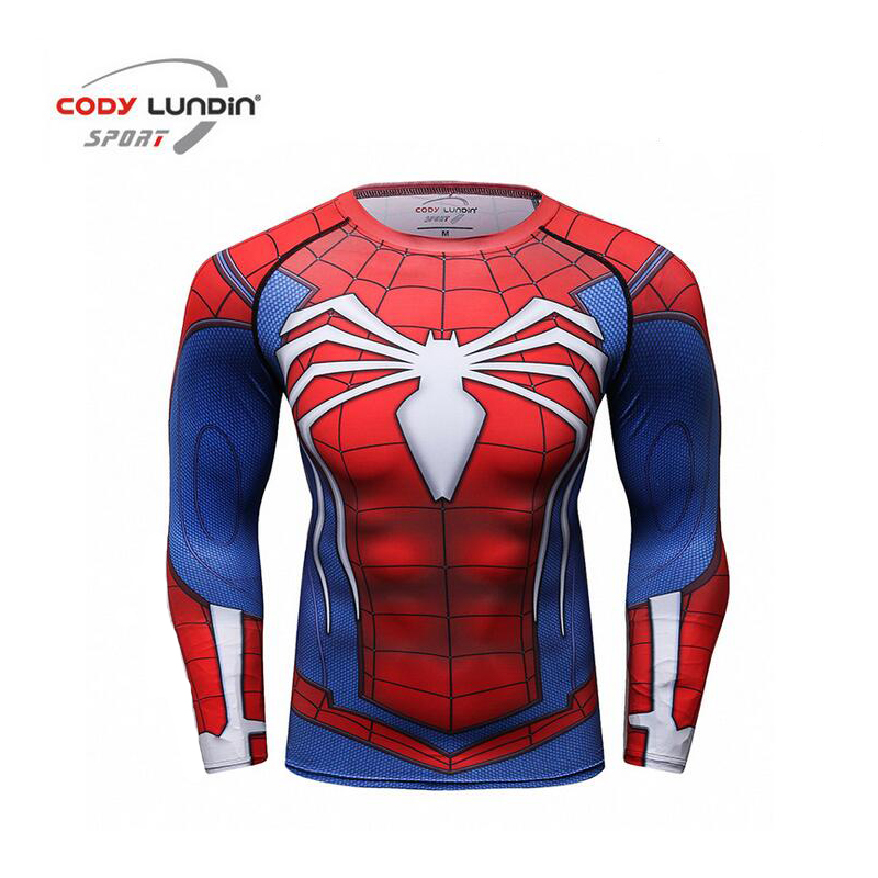 Для мужчин сжатия рубашка Рашгард с длинным рукавом 3D принт джиу-джитсу Футболки ММА Фитнес мужской быстросохнущая Бодибилдинг Crossfit Топы