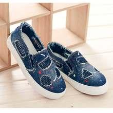 47b55c69 Niños Zapatos de lona de malla Primavera Verano Casual zapatillas planas  Zapatos vulcanizado tamaño 21-