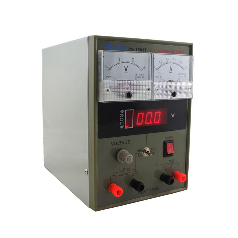 PS-1501T 15V 1A DC Regulated Power Supply for lab and school