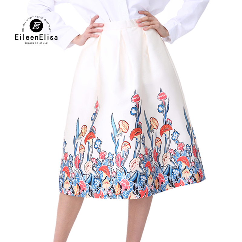 witte rok knielengte