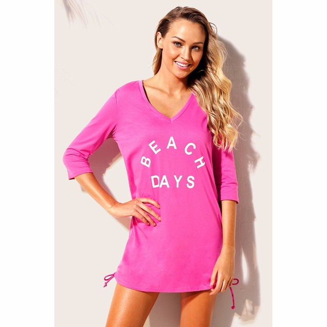 d4652c5627 2018 Swimsuit Cover Ups Sexy Beach Tunic Dress Summer women Pareo Ruched  Tie Side V Neck Beach Dress