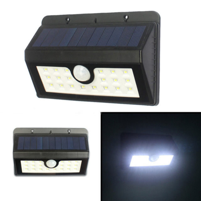 20led Motion Sensor Solar Light Led Wall Lamp Waterproof Outdoor Garden Lights Patio Deck Yard Driveway