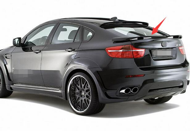 ABS Primer Unpainted Color Rear Lip Spoiler with light For BMW X6 2008 2014|Spoilers & Wings| |  - title=