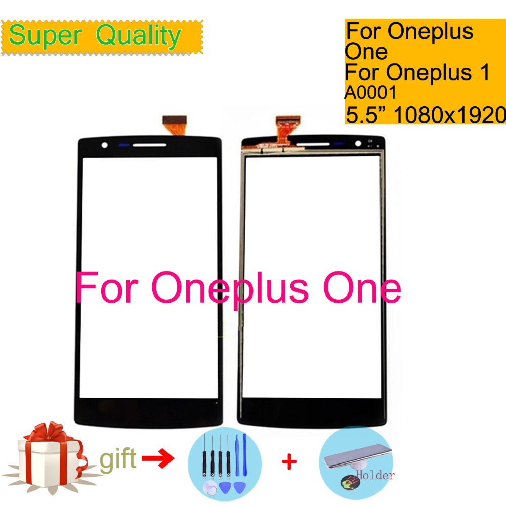 Touchscreen For Oneplus One 1+ A0001 Touch Screen Panel Sensor Digitizer Front Outer Glass Lens NO LCD Replacement 5.5