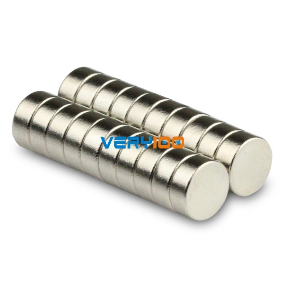 100pcs N35 Grade Strong Round Magnets 7mm x 5mm Disc Rare Earth Neodymium New