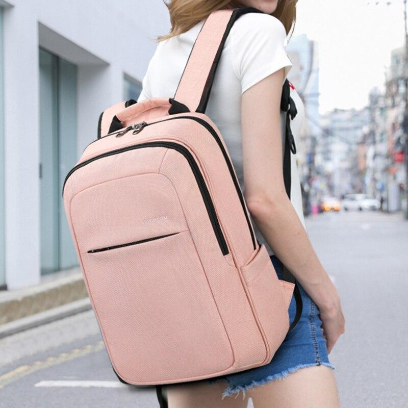 Tigernu femmes mode 15.6 pouces USB recharge hommes sacs à dos Anti-vol fille Mochila sac à dos pour ordinateur portable cartable pour les adolescents