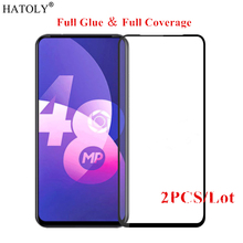2Pcs OPPO F11 Pro Glass Tempered for Film 9H Full Glue Coverage Hard Screen Protector