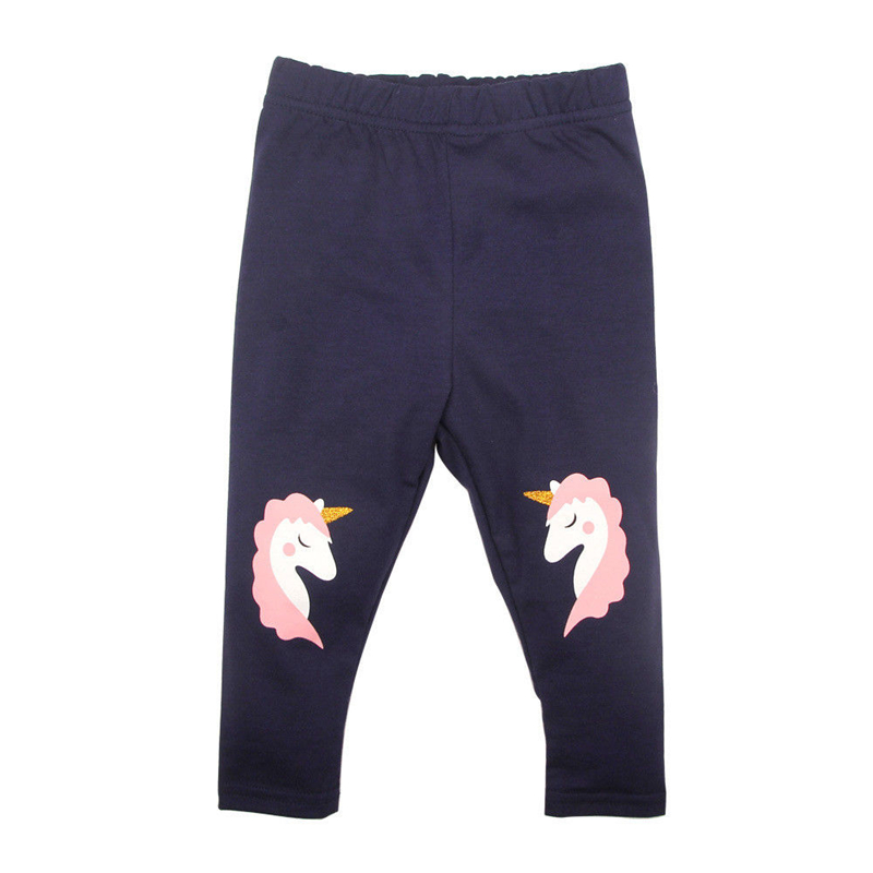 Baby Kids Girls Cotton Pants Leggings Unicorn Printed Harem Pants 2017 New Bebes Hot Sale Toddler Kid Girl Soft Trousers Clothes