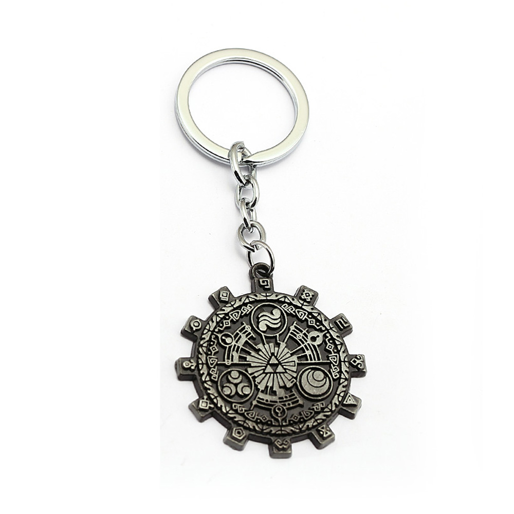 The Legend of Zelda Keychain Gear Totems Pendant Metal Key Ring Holder Men Car Women Bag Key Chain Chaveiro Game Jewelry