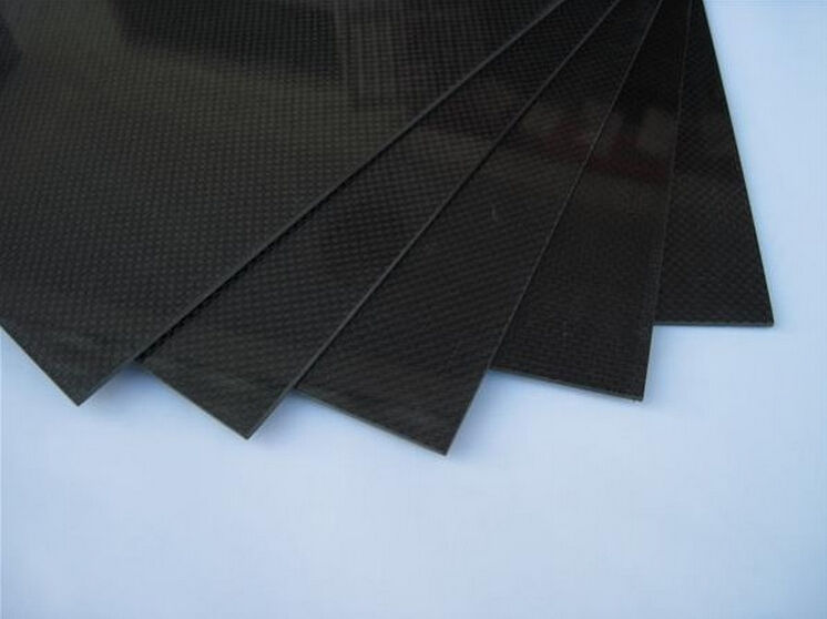 3K Carbon Fiber Plate Panel Sheet Plaine Weave Glossy Surface 1mm Thickness 100x250mm 200x250mm 250x250mm 400x250mm 400x500mm